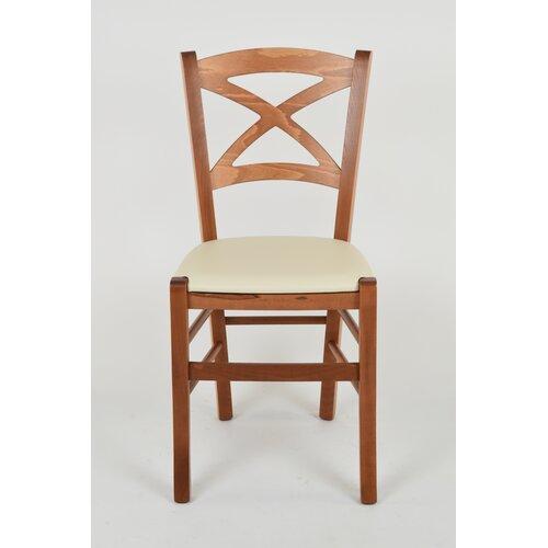 Esszimmerstuhl Marcelino aus Massivholz Sommerallee Polsterfarbe: Weiß| Rahmenfarbe: Hellbraun