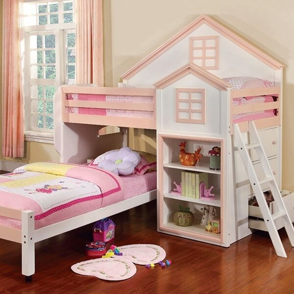 Best 1 Cheney House Twin L Shaped Bunk Bed By Zoomie Kids
