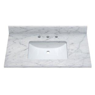 Carrara 37 Single Bathroom Vanity Top by Sagehill Designs