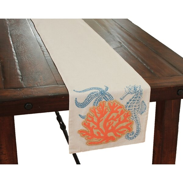 Costal Applique Sea life and Coral Table Runner by Xia Home Fashions
