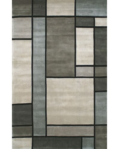 Casual Contemporary Grey / Slate Metro Area Rug by American Home Rug Co.
