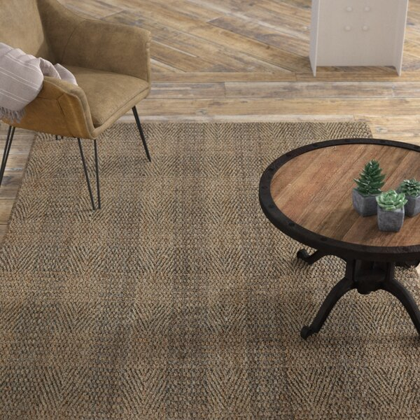 Acushnet Hand-Woven Slate/Gray Area Rug by Williston Forge