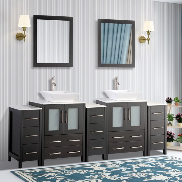Melbourne 84 Double Bathroom Vanity Set with Mirror