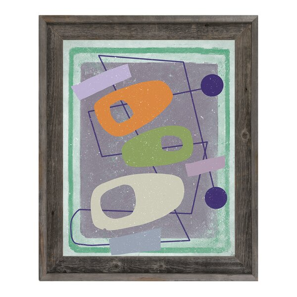 Odd Connections Framed Graphic Art on Canvas by Click Wall Art