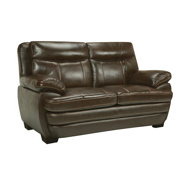 Suber Leather Loveseat by Red Barrel Studio