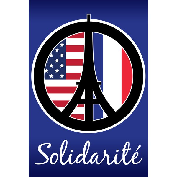 Solidarité Garden flag by Toland Home Garden