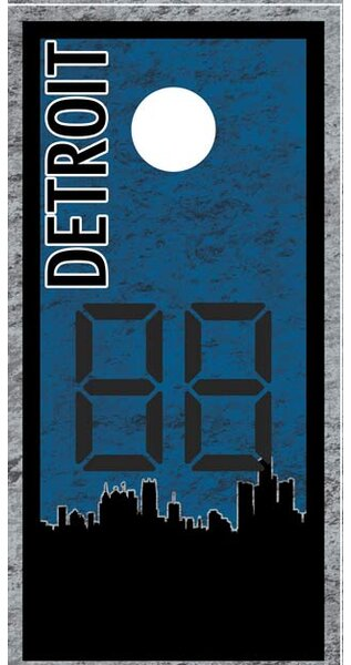 Detroit Skyline Cornhole Board by Lightning Cornhole