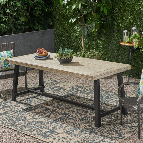 Kya Outdoor Dining Table by 17 Stories
