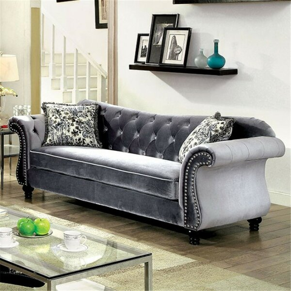 Get Premium Javon Chesterfield Sofa by Rosdorf Park by Rosdorf Park