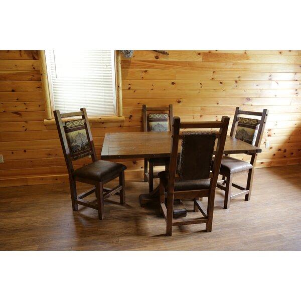 Minster 5 Piece Solid Wood Dining Set by Loon Peak Loon Peak