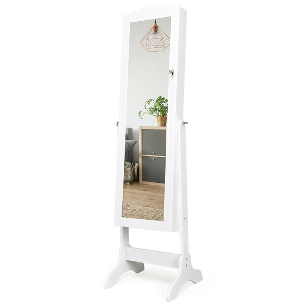Gironde Free Standing Jewelry Armoire with Mirror by Red Barrel Studio Red Barrel Studio