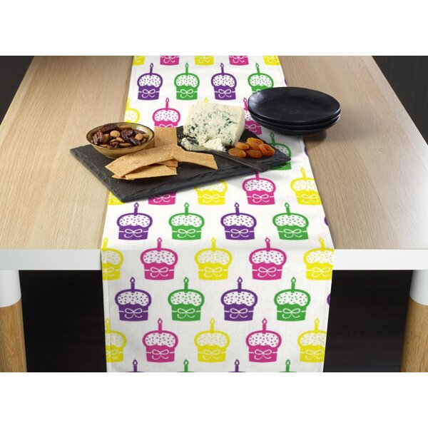 Mccomas Spring Cupcakes Milliken Signature Table Runner by Latitude Run