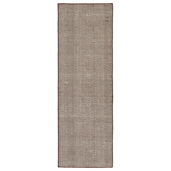 Buell Hand Woven Burgundy Indoor/Outdoor Area Rug by Ivy Bronx