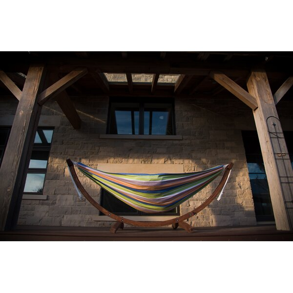 Kelsi Cotton Double Hammock with Stand by Freeport Park