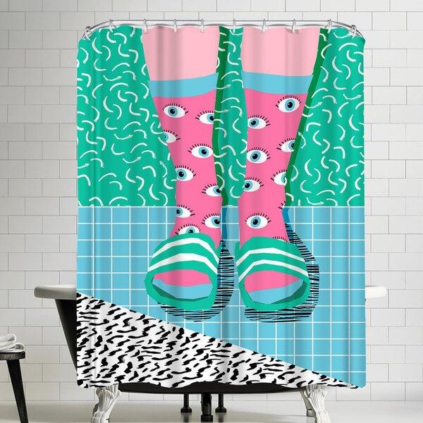 Wacka Designs Chillax Shower Curtain by East Urban Home