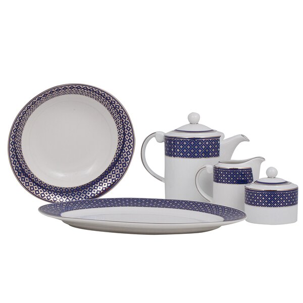 Empire Fine China Traditional Serving 5 Piece Dinnerware Set by Shinepukur Ceramics USA, Inc.