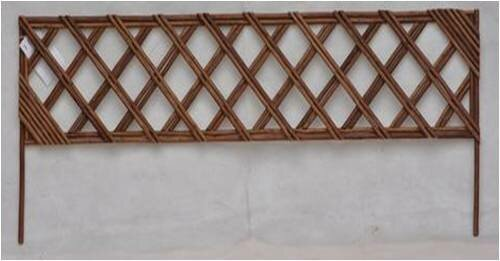 Unpeeled Willow Wood Lattice Panel Trellis by Mr. MJs