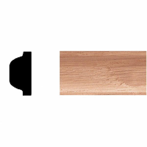 3/8 in. x 3/4 in. x 8 ft. Oak Shelf Strip Moulding by Manor House