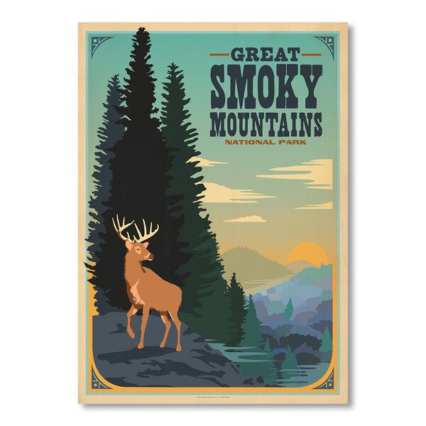 Great Smoky Mountains Green Vintage Advertisement by East Urban Home