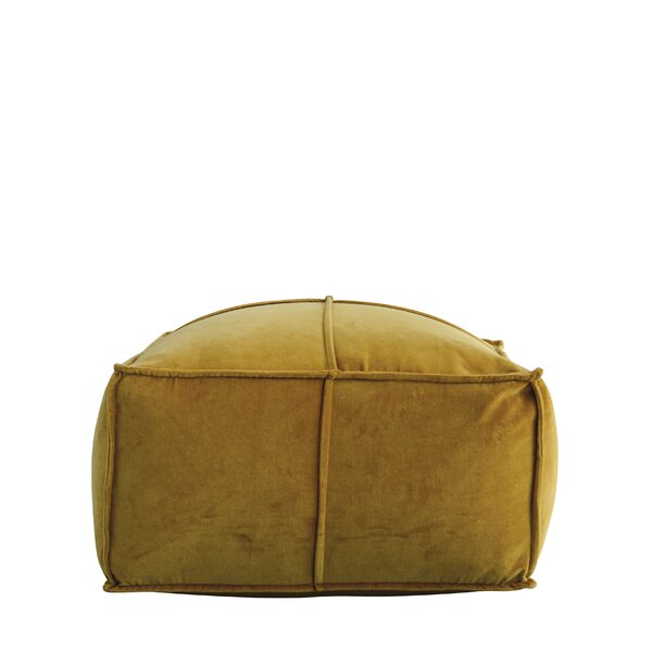 Byers Square Cotton Velvet Pouf Ottoman by Ebern Designs