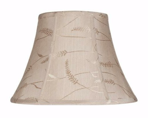 9.5 H Jacquard Textured Fabric Bell Lamp Shade ( Spider ) in Oatmeal