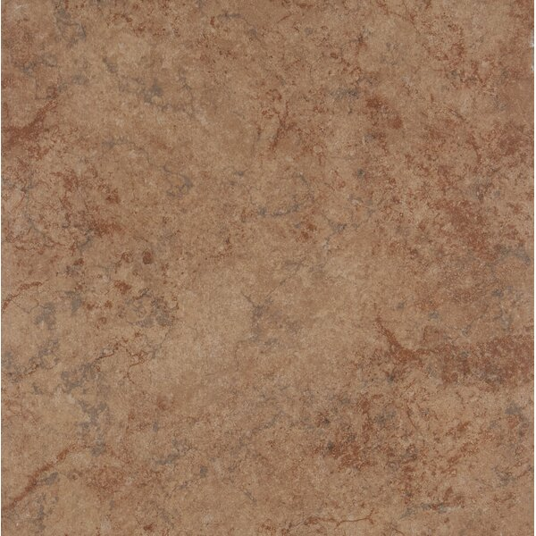 18 x 18 Ceramic Field Tile in Rust by Itona Tile