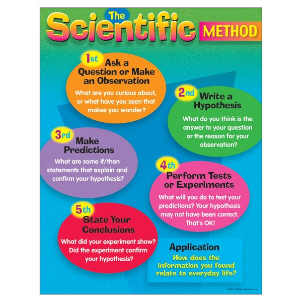 The Scientific Method Grade 4 - 8 Chart by Trend Enterprises