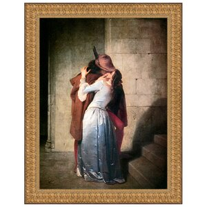 The Kiss, 1859 by Francesco Hayez Framed Painting Print by Design Toscano
