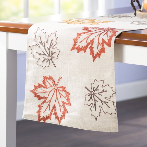 Dresden Embroidered Fall Table Runner by Red Barrel Studio