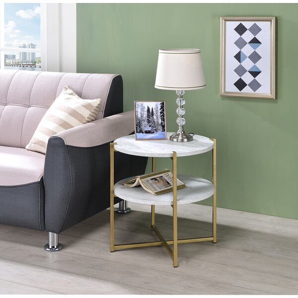 Graford 3rd Legs End Table With Storage By Mercer41