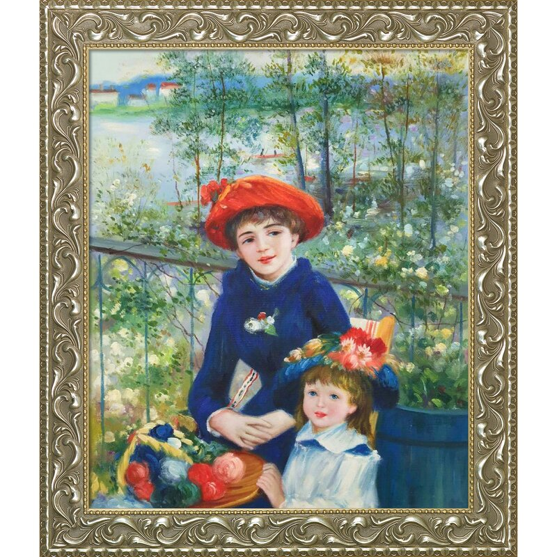 On the Terrace by Pierre-Auguste Renoir Giclee Fine ArtPrint Repro on Canvas
