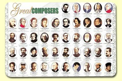 Great Composers Placemat (Set of 4) by Painless Learning Placemats