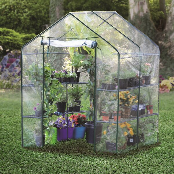 4.86 Ft.W x 4.79 Ft. D Hobby Greenhouse by Bond Manufacturing