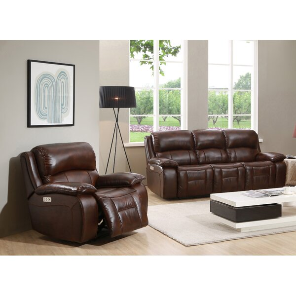 Westminster II 2 Piece Leather Reclining Living Room Set by HYDELINE