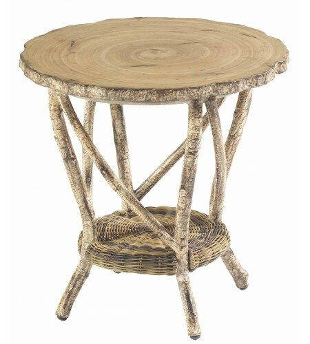 River Run Wicker Side Table by Woodard