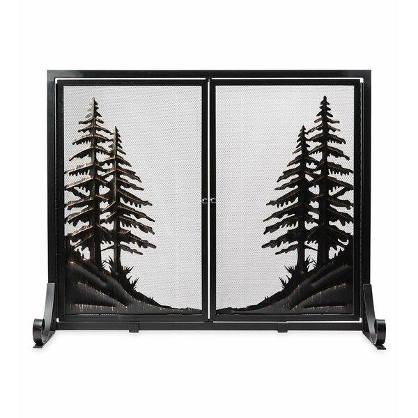 Alpine Double Panel Steel Fireplace Screen By Plow & Hearth