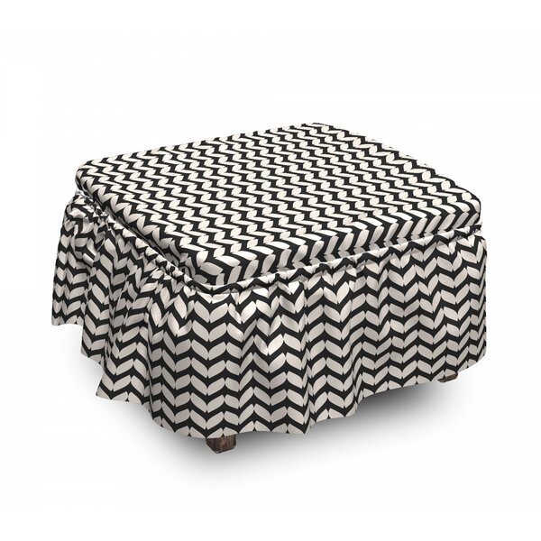 Art Deco Ottoman Slipcover (Set Of 2) By East Urban Home