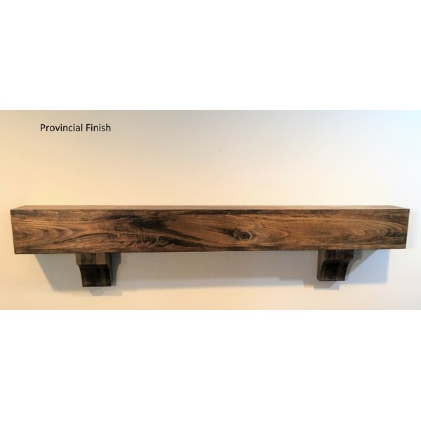 """3.5/"""" Thick 7.25/"""" Depth Up to 8/' Long Rustic Fireplace Mantel Country Real Wood"""