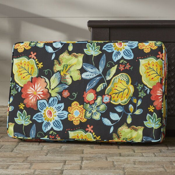 Barbuda Corded Floral Indoor/Outdoor Floor Pillow by Bay Isle Home