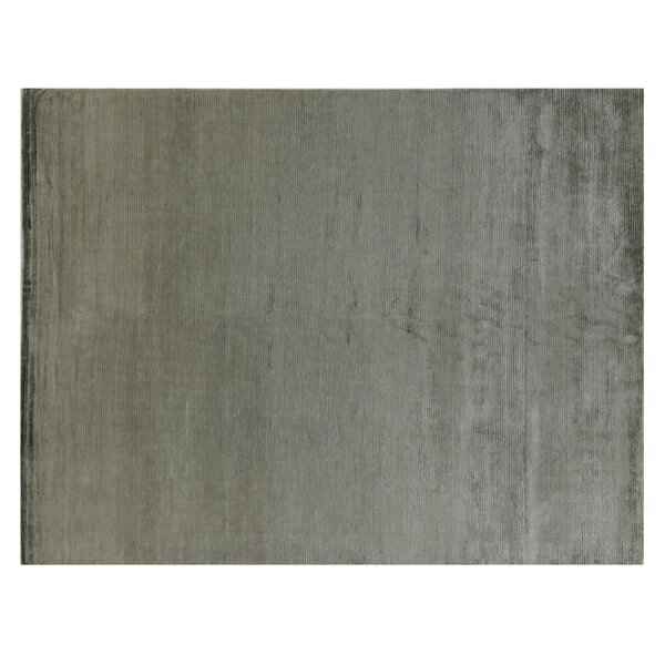 Hand Woven Silk Dark Gray Area Rug by Exquisite Rugs