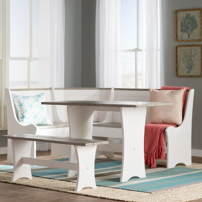 Beachcrest Home Monroe 3 Piece Breakfast Nook Dining Set
