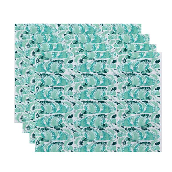Cedarville Fishwich Coastal Placemat (Set of 4) by Highland Dunes
