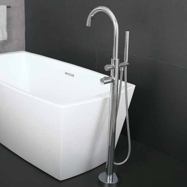 Single Handle Floor Mounted Freestanding Tub Filler Trim with Hand Shower by DAX DAX