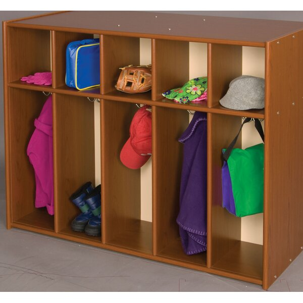 Vos System 2 Tier 5 Wide Coat Locker by TotMate