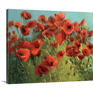'Sunshine and Raindrops' by Shirley Novak Painting Print on Wrapped Canvas by Great Big Canvas