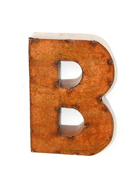 Rustic Brown Letter Block by Trent Austin Design