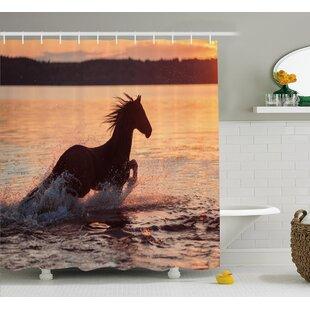 Horse Sea Shower Curtain