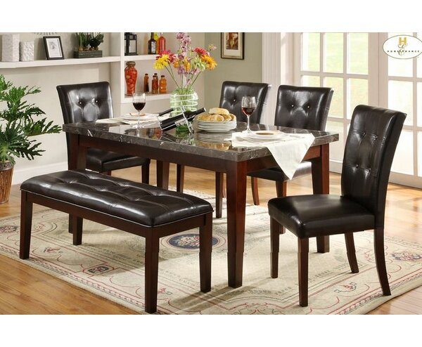 Blackwater 6 Piece Dining Table Set by Red Barrel Studio