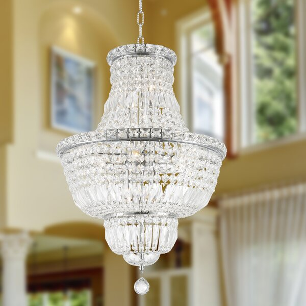 Carson 12-Light Unique / Statement Empire Chandelier by House of Hampton House of Hampton