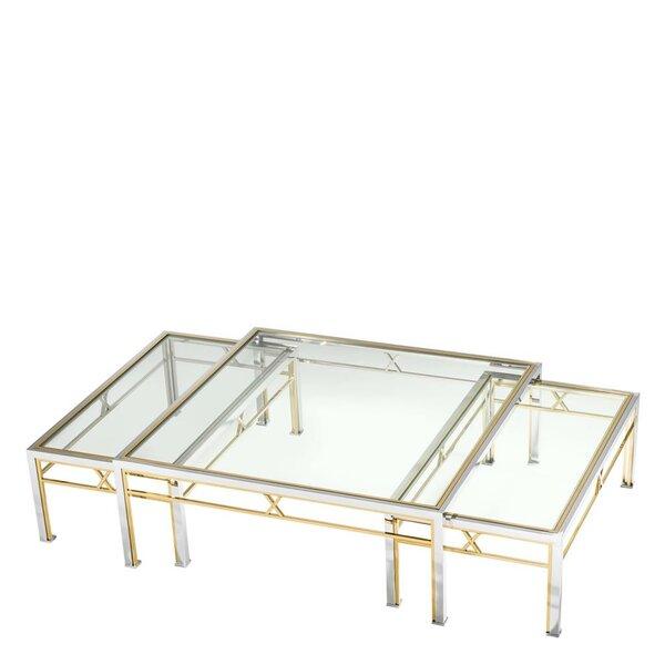 Lindon 3 Piece Coffee Table Set by Eichholtz